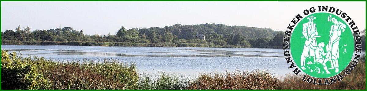 Billede af Maribo søerne m/ H&I forenings logo